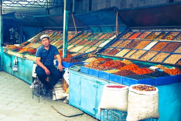 Osh Bazaar in Bishkek